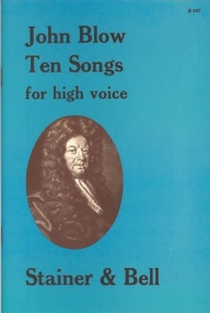Blow: Ten Songs for High Voice published by Stainer and Bell