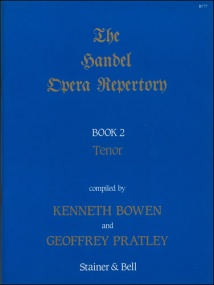 Handel: The Handel Opera Repertory Book 2 for Tenor published by Stainer & Bell