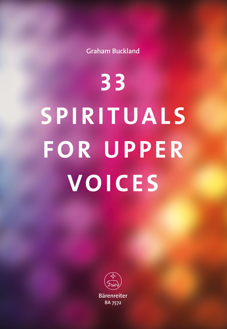 33 Spirituals for upper Voices published by Barenreiter