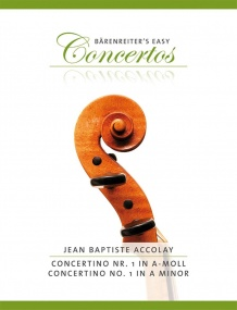 Accolay Concerto No.1 in A Minor for Violin published by Barenreiter