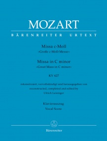 Mozart: Great Mass in C minor (K427) published by Barenreiter Urtext - Vocal Score