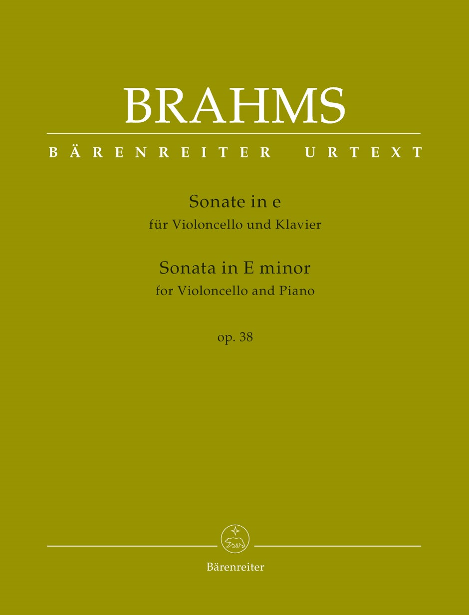 Brahms: Sonata in E Minor Opus 38 for Cello published by Barenreiter