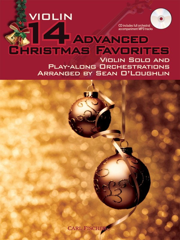 14 Advanced Christmas Favourites for Violin Book & CD published by Fischer