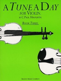 A Tune a Day Book 3 for Violin published by Boston Music Co