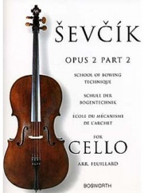 Sevcik: School Of Bowing Technique Opus 2 Part 2 for Cello published by Bosworth