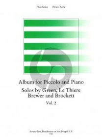 Album for Piccolo & Piano Volume 2 published by Broekmans