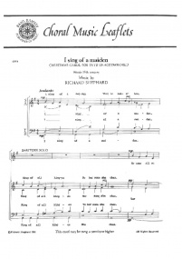 Shephard: I Sing Of A Maiden SATB published by Basil Ramsey