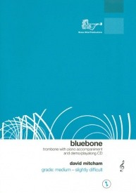 Bluebone (Treble Clef) Book & CD for Trombone published by Brasswind