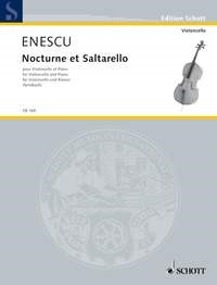 Enescu: Nocturne et Saltarello for Cello published by Schott