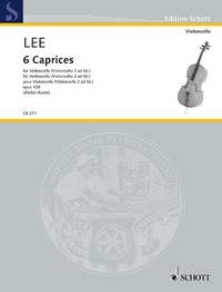 Lee: 6 Caprices Opus 109 for Cello published by Schott