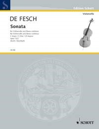 Fesch: Sonata in C Opus 13 for Cello by published by Schott