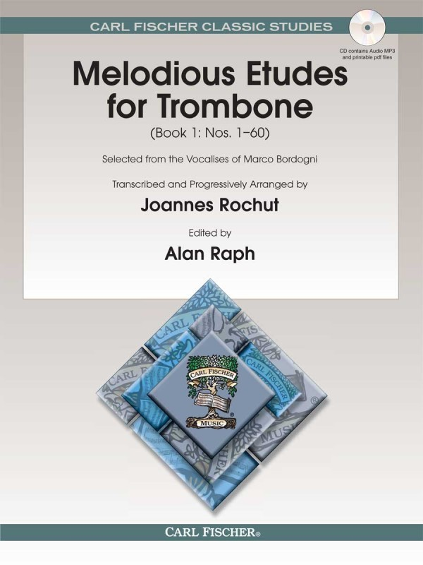 Bordogni: Melodious Etudes for Trombone 1 Book & Online Audio published by Fischer