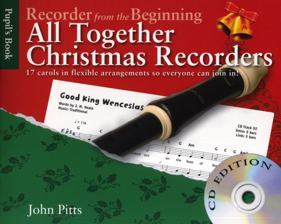 Recorder from the Beginning - All Together Christmas Recorders Book & CD published Chester