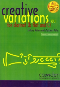Creative Variations Volume 1 for Clarinet Book & CD published by Camden