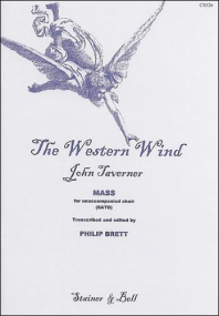 Taverner: The Western Wind, Mass published by Stainer & Bell - Vocal Score