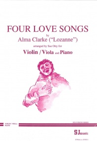 Clarke: Four Love Songs for Viola or Violin published by SJ Music