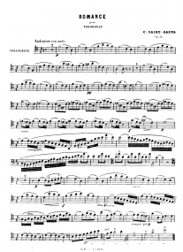 Romance Opus 51 by Saint-Saens for Bassoon published by Durand