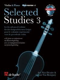 Selected Studies 3 for Violin Book & CD published by De Haske