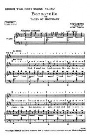 Offenbach: Barcarolle from the Tales Of Hoffmann 2Pt published by Ashdown