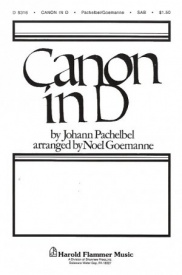 Pachelbel: Canon In D SAB published by Shawnee Press