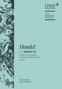 Handel: Messiah published by Breitkopf - Vocal Score