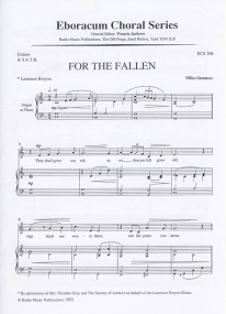 For the Fallen Unison & SATB by Sammes published by Banks