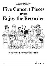 5 Concert Pieces from Enjoy the Recorder by Bonsor for Treble Recorder published by Schott