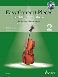 Easy Concert Pieces 2 for Cello Book & CD published by Schott