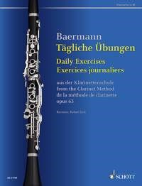 Baermann: Daily Exercises Opus 63 for Clarinet published by Schott