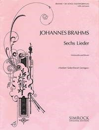 Brahms: 6 Songs for Cello published by Simrock