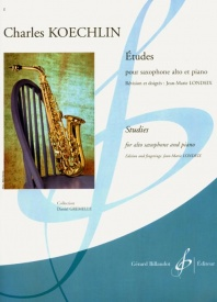 15 Etudes for Alto Saxophone by Koechlin published by Billaudot