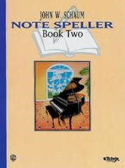 Schaum Note Speller Book 2 for Piano published by Warner
