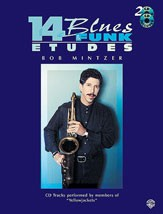 14 Blues & Funk Etudes for Instruments in C by Mintzer Book & CD published by Warner