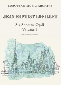 Loeillet: Six Sonatas Volume 1 Op5/1-3 for Flute, Oboe or Violin published by EMA