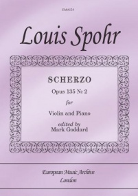 Spohr: Scherzo Opus 135/2 for Violin published by EMA