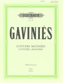 Gaviniés: 24 Etudes for Violin published by Peters