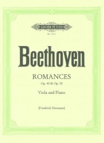 Beethoven: Two Romances Opus 40 & 50 arranged for Viola published by Peters