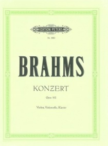 Brahms: Concerto for Violin, Cello & Orchestra Opus 102 published by Peters