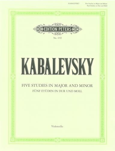 Kabalevsky: 5 Studies in Major and Minor Opus 67 for Cello published by Peters