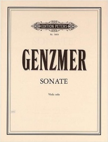 Genzmer: Sonata for Viola published by Peters