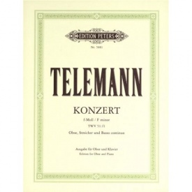 Telemann: Concerto in F Minor TWV 51:f1 for Oboe published by Peters
