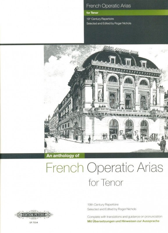An Anthology of French Operatic Arias for Tenor published by Peters Edition