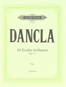 Dancla: 20 Etudes brillantes Opus 73 for Viola published by Peters