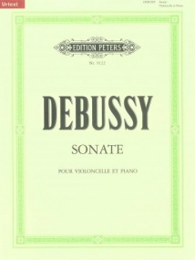 Debussy: Sonata for Cello published by Peters