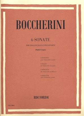 Boccherini: 6 Sonatas for Cello published by Ricordi