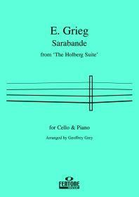 Grieg: Sarabande from the 'Holberg Suite' for Cello published by Fentone