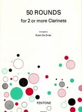 50 Rounds for 2 or More Clarinets published by Fentone