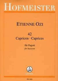 42 Caprices for Bassoon by Ozi published by Hofmeister