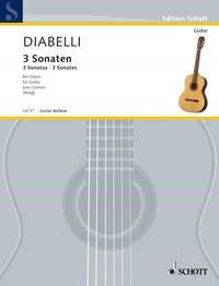 3 Sonatas by Diabelli for Guitar published by Schott