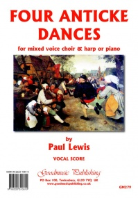 Lewis: Four Anticke Dances for Choir & Harp published by Goodmusic - Harp Part